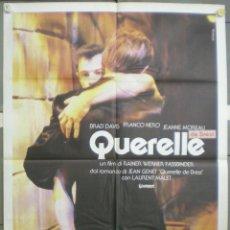 Cine: QM92 QUERELLE FASSBINDER BRAD DAVIS GAY CULT POSTER ORIGINAL 100X140 ITALIANO. Lote 236767620