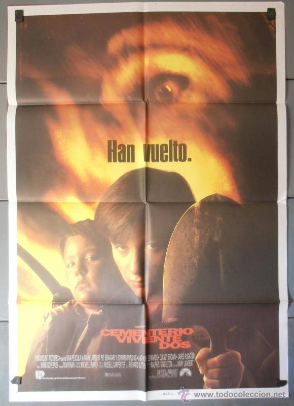 CEMENTERIO VIVIENTE DOS, CARTEL DE CINE ORIGINAL 70X100 APROX (4214) (Cine - Posters y Carteles - Terror)