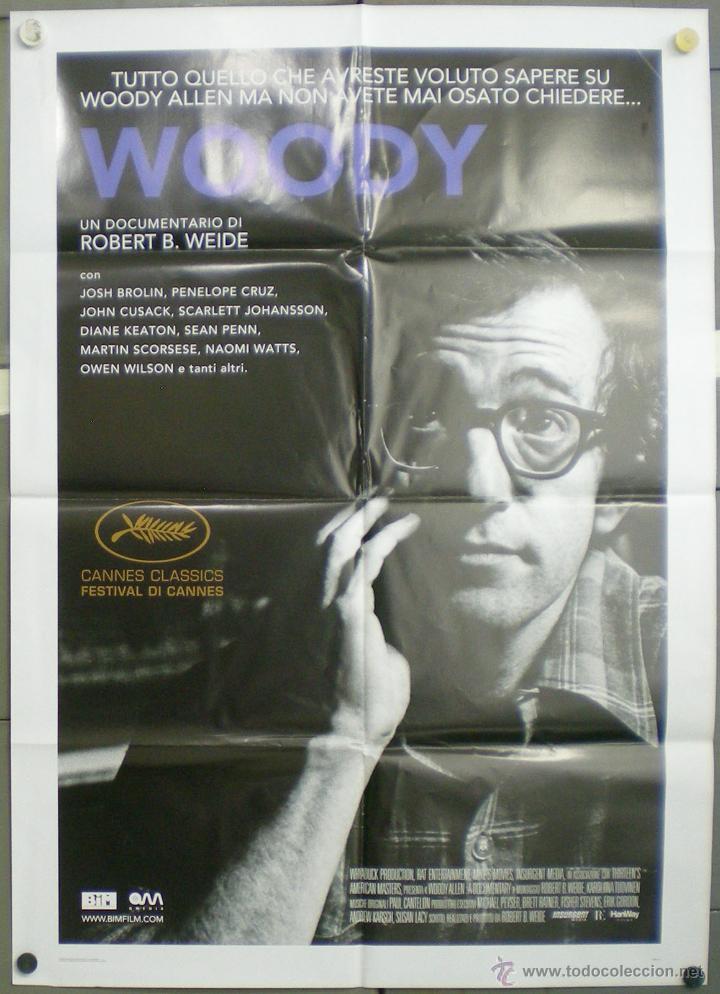 QN36 WOODY ALLEN ROBERT B WEIDE DOCUMENTAL POSTER ORIGINAL ITALIANO 100X140 (Cine - Posters y Carteles - Documentales)