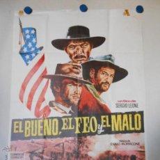 Cine: CLINT EASTWOOD - EL BUENO EL FEO Y EL MALO - CARTEL ORIGINAL DE LA PELICULA. Lote 45657326