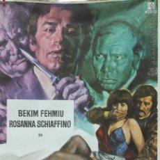 Cine: CARTEL ORIGINAL PELICULA EL TESTIGO DEBE CALLAR 1978 LEON FILM. Lote 45680646