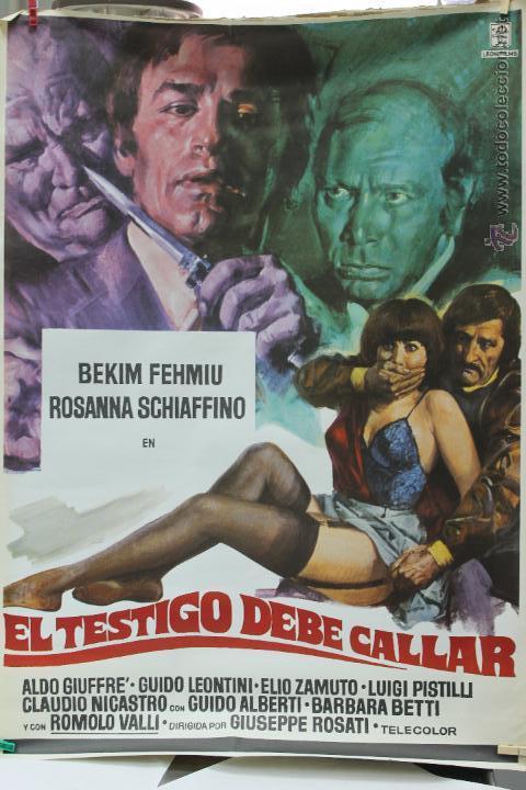 Cine: CARTEL ORIGINAL PELICULA EL TESTIGO DEBE CALLAR 1978 LEON FILM - Foto 2 - 45680646