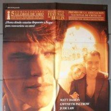 Cinéma: EL TALENTO DE MR. RIPLEY, CARTEL DE CINE ORIGINAL 70X100 APROX (6027). Lote 55777731