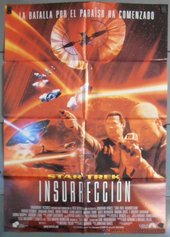 STAR TREK INSURRECCION, CARTEL DE CINE ORIGINAL 70X100 APROX (6410) (Cine - Posters y Carteles - Ciencia Ficción)