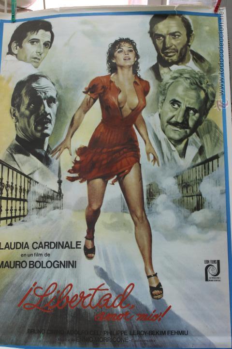 CINE, LIBERTAD AMOR MIO, ESTRENO, CLAUDIA CARDINALE 1977 CARTEL (Cine - Posters y Carteles - Acción)