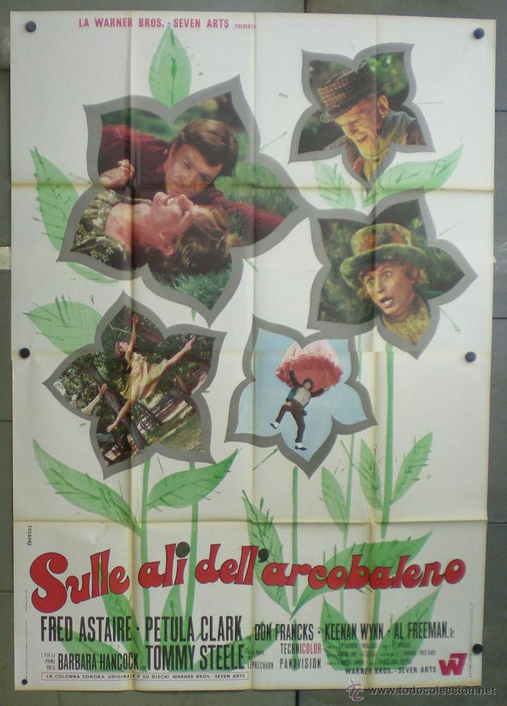 QN66 EL VALLE DEL ARCO IRIS FRED ASTAIRE PETULA CLARK TOMMY STEELE POSTER ORIGINAL ITALIANO 140X200 (Cine - Posters y Carteles - Musicales)