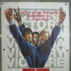 Cinema: QN73D EVASION O VICTORIA PELE MICHAEL CAINE FUTBOL POSTER ORIGINAL ITALIANO 140X200. Lote 45699995