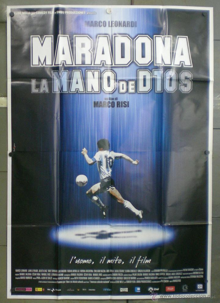 QN70 MARADONA LA MANO DE DIOS FUTBOL POSTER ORIGINAL ITALIANO 140X200 (Cine - Posters y Carteles - Deportes)