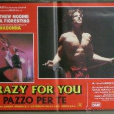 Cine: QO11 CRAZY FOR YOU MADONNA MATTHEW MODINE SET 6 POSTERS ORIGINAL ITALIANO 47X68. Lote 45719139