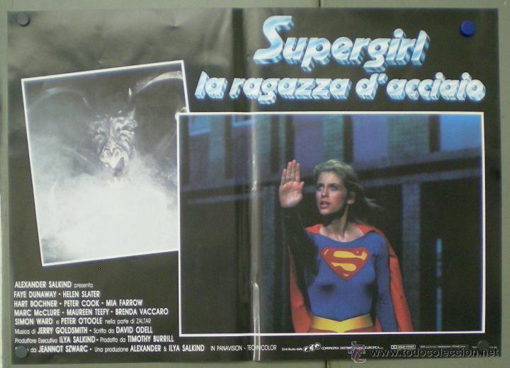 QO05 SUPERGIRL HELEN SLATER SET 8 POSTERS ORIGINALES ITALIANOS 47X68 (Cine - Posters y Carteles - Ciencia Ficción)