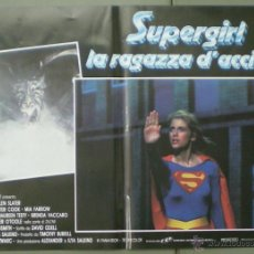 Cine: QO05 SUPERGIRL HELEN SLATER SET 8 POSTERS ORIGINALES ITALIANOS 47X68. Lote 45721394