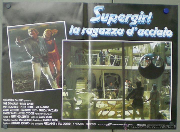Cine: QO05 SUPERGIRL HELEN SLATER SET 8 POSTERS ORIGINALES ITALIANOS 47X68 - Foto 2 - 45721394