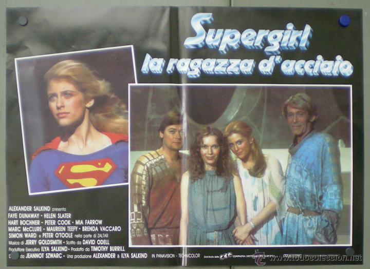 Cine: QO05 SUPERGIRL HELEN SLATER SET 8 POSTERS ORIGINALES ITALIANOS 47X68 - Foto 3 - 45721394