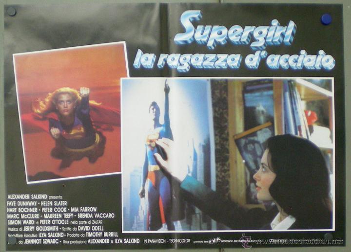 Cine: QO05 SUPERGIRL HELEN SLATER SET 8 POSTERS ORIGINALES ITALIANOS 47X68 - Foto 6 - 45721394