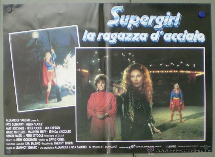 Cine: QO05 SUPERGIRL HELEN SLATER SET 8 POSTERS ORIGINALES ITALIANOS 47X68 - Foto 8 - 45721394