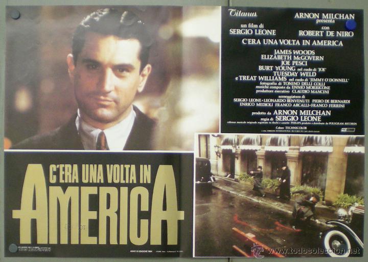 QO04 ERASE UNA VEZ EN AMERICA SERGIO LEONE ROBERT DE NIRO SET 10 POSTERS ORIGINAL ITALIANO 47X68 (Cine - Posters y Carteles - Acción)