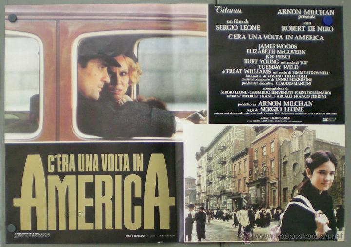 Cine: QO04 ERASE UNA VEZ EN AMERICA SERGIO LEONE ROBERT DE NIRO SET 10 POSTERS ORIGINAL ITALIANO 47X68 - Foto 2 - 45721632