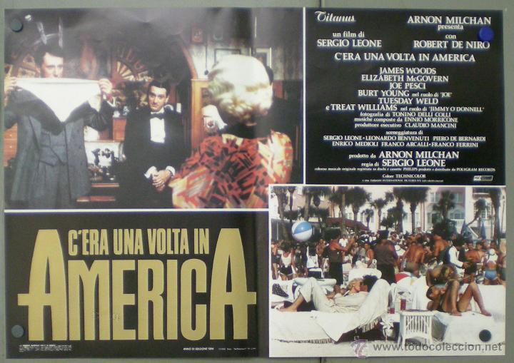 Cine: QO04 ERASE UNA VEZ EN AMERICA SERGIO LEONE ROBERT DE NIRO SET 10 POSTERS ORIGINAL ITALIANO 47X68 - Foto 4 - 45721632