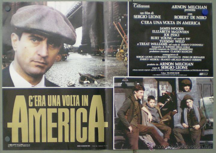 Cine: QO04 ERASE UNA VEZ EN AMERICA SERGIO LEONE ROBERT DE NIRO SET 10 POSTERS ORIGINAL ITALIANO 47X68 - Foto 5 - 45721632