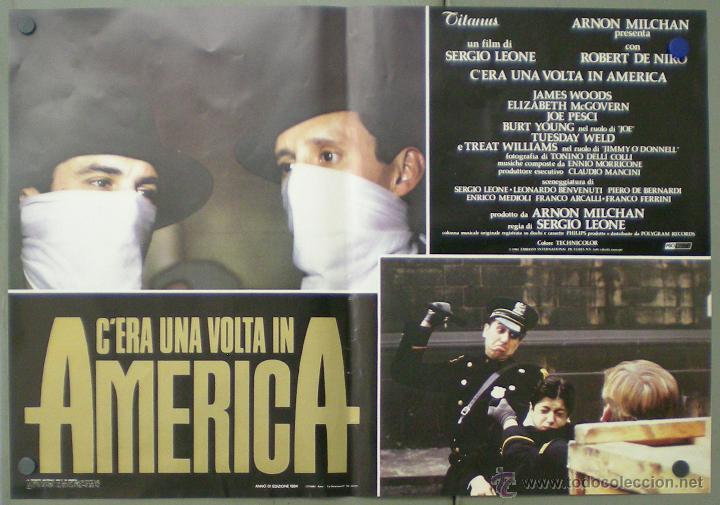 Cine: QO04 ERASE UNA VEZ EN AMERICA SERGIO LEONE ROBERT DE NIRO SET 10 POSTERS ORIGINAL ITALIANO 47X68 - Foto 8 - 45721632