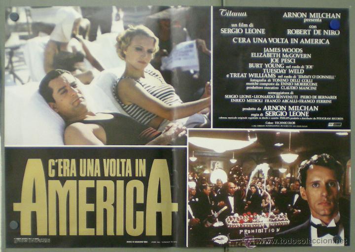 Cine: QO04 ERASE UNA VEZ EN AMERICA SERGIO LEONE ROBERT DE NIRO SET 10 POSTERS ORIGINAL ITALIANO 47X68 - Foto 10 - 45721632
