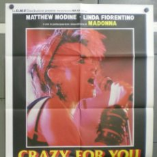 Cine: QN90 CRAZY FOR YOU MADONNA MATTHEW MODINE POSTER ORIGINAL ITALIANO 100X140. Lote 45723849