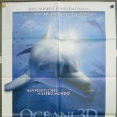 Cine: QN99 OCEANWORLD 3D JEAN-JACQUES FRANÇOIS MANTELLO POSTER ORIGINAL ITALIANO 100X140. Lote 45724541