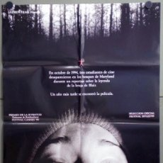 Cine: VD65 EL PROYECTO DE LA BRUJA DE BLAIR / BLAIR WITCH PROJECT POSTER ORIGINAL 70X100 ESTRENO. Lote 45728483