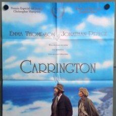 Cine: VD67 CARRINGTON EMMA THOMPSON JONATHAN PRYCE POSTER ORIGINAL 70X100 ESTRENO. Lote 45728601