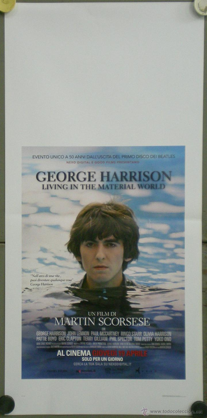 QO42 GEORGE HARRISON LIVING IN THE MATERIAL WORLD BEATLES POSTER ORIGINAL 33X70 ITALIANO (Cine - Posters y Carteles - Musicales)