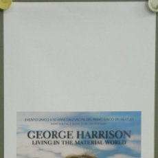 Cine: QO42 GEORGE HARRISON LIVING IN THE MATERIAL WORLD BEATLES POSTER ORIGINAL 33X70 ITALIANO. Lote 45738234
