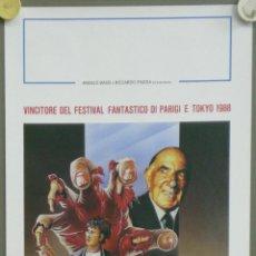 Cine: QO36 MAL GUSTO BAD TASTE PETER JACKSON TERROR GORE POSTER ORIGINAL ITALIANO 33X70. Lote 45740586