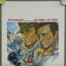 Cine: QO33 EL DESAFIO DE LAS AGUILAS CLINT EASTWOOD RICHARD BURTON POSTER ORIGINAL ITALIANO 33X70. Lote 45740860