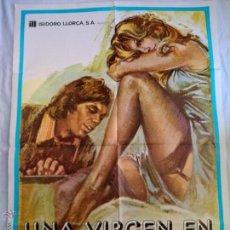 Cine: PÓSTER ORIGINAL UNA VIRGEN EN LA FAMILIA (1980). Lote 45754933