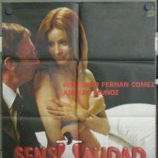 Cinema: VE03 SENSUALIDAD AMPARO MUÑOZ FERNANDO FERNAN GOMEZ PILAR VELAZQUEZ POSTER ORIGINAL 70X100 ESTRENO. Lote 45797841