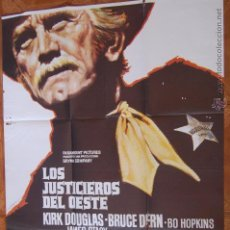 Cine: POSTER CARTEL CINE LOS JUSTICIEROS DEL OESTE 100% ORIGINAL. 100 X 70 CM.. Lote 45798225