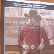 Cine: POSTER CARTEL CINE URBAN COWBOY 100% ORIGINAL. 100 X 70 CM.. Lote 45798585