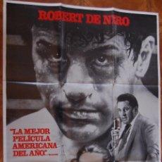 Cine: POSTER CARTEL CINE TORO SALVAJE 100% ORIGINAL ESTRENO PELICULA. 100 X 70 CM.. Lote 45798619