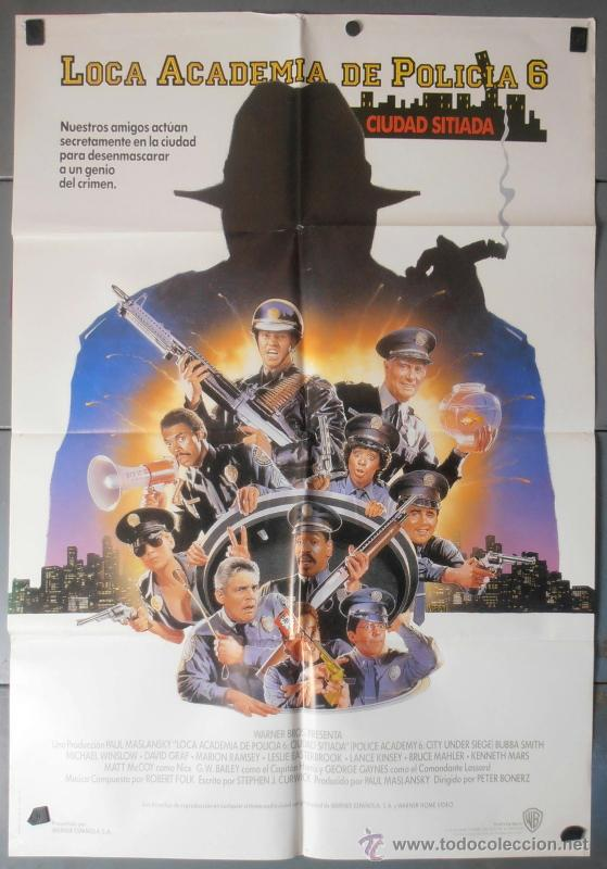 LOCA ACADEMIA DE POLICIA 6, CARTEL DE CINE ORIGINAL 70X100 APROX (7679) (Cine - Posters y Carteles - Comedia)
