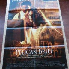 Cine: THE PELICAN BRIEF PÓSTER ORIGINAL DE LA PELÍCULA, ORIGINAL, DOBLADO, AÑO 1993, HECHO EN USA, USADO. Lote 45863523