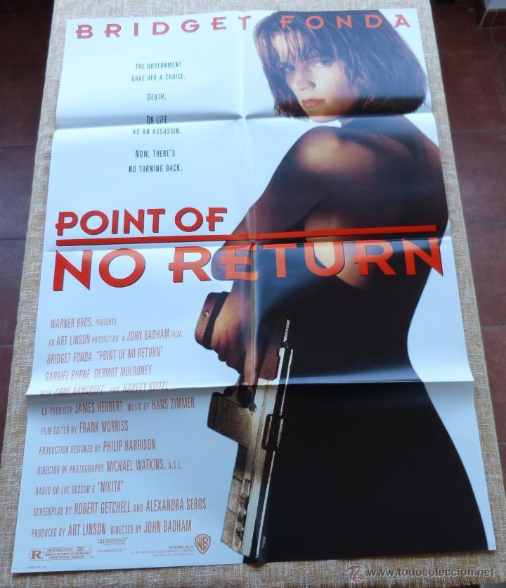 POINT OF NO RETURN PÓSTER ORIGINAL DE LA PELÍCULA, ORIGINAL, DOBLADO, AÑO 1993, HECHO EN U.S.A. (Cine - Posters y Carteles - Acción)
