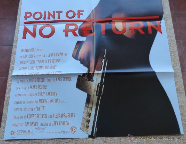 Cine: Point of No Return Póster original de la película, Original, Doblado, año 1993, Hecho en U.S.A. - Foto 5 - 45864960