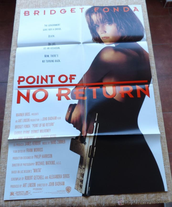 Cine: Point of No Return Póster original de la película, Original, Doblado, año 1993, Hecho en U.S.A. - Foto 6 - 45864960