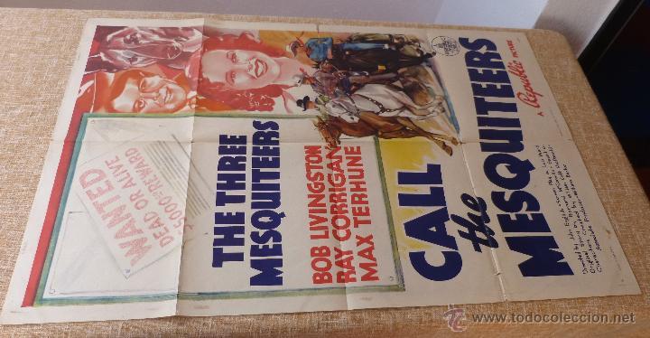 Cine: Call the Mesquiteers Póster original de la película, Original, Doblado, año 1938, Hecho en U.S.A. - Foto 2 - 45990383