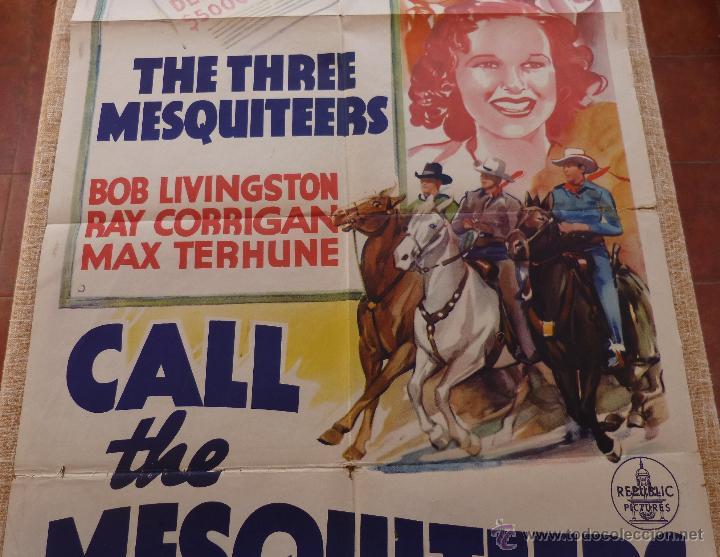 Cine: Call the Mesquiteers Póster original de la película, Original, Doblado, año 1938, Hecho en U.S.A. - Foto 4 - 45990383