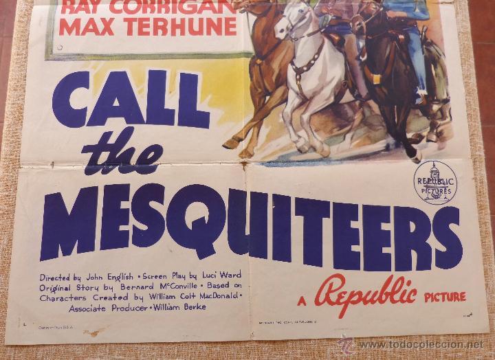 Cine: Call the Mesquiteers Póster original de la película, Original, Doblado, año 1938, Hecho en U.S.A. - Foto 5 - 45990383