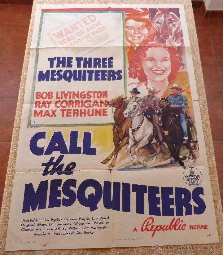 Cine: Call the Mesquiteers Póster original de la película, Original, Doblado, año 1938, Hecho en U.S.A. - Foto 6 - 45990383