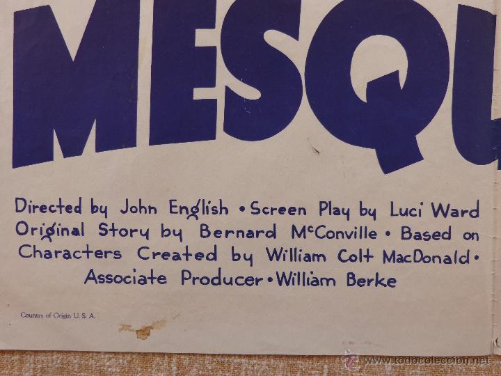 Cine: Call the Mesquiteers Póster original de la película, Original, Doblado, año 1938, Hecho en U.S.A. - Foto 9 - 45990383
