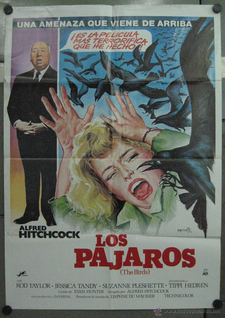 QP06 LOS PAJAROS ALFRED HITCHCOCK TIPPI HEDREN ROD TAYLOR MATAIX POSTER ORIGINAL 70X100 ESPAÑOL (Cine - Posters y Carteles - Terror)