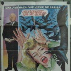 Cinema: QP06 LOS PAJAROS ALFRED HITCHCOCK TIPPI HEDREN ROD TAYLOR MATAIX POSTER ORIGINAL 70X100 ESPAÑOL. Lote 153152277